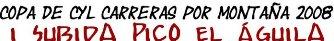 Más de 150 inscripciones provisionales tiene ya recogidas la I subida al Pico del Águila