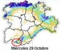 Previsión meteorológica de Candelario para el miércoles día 29