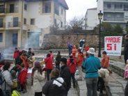 Buen tiempo y mucha asistencia en la calbotada organizada por la Plataforma por el Parque natural de Candelario