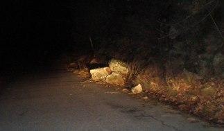 Desprendimientos en la carretera Candelario-La Garganta