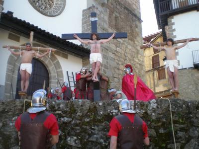 Más de 1000 espectadores en el Vía crucis Viviente de Candelario