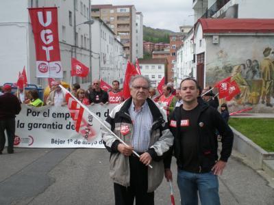 Mucha participación corita y ambiente reivindicativo en la manifestación del 1º de Mayo en Béjar