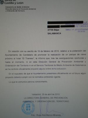 El Alcalde de Candelario o nos ha mentido o le han engañado, la Junta no estudia ningún Parque de Nieve en Candelario