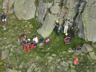 Rescatado un montañero de 37 años tras sufrir una lesión a 1.900 metros de altura en Los Canalizos