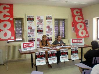 """CCOO de Salamanca denuncia en la comarca de Béjar los efectos """"perversos"""" de la reforma laboral para la juventud"""