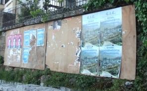 El Grupo Independiente de Candelario ha sido el primer partido en pegar sus carteles electorales en la villa serrana