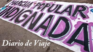 Miembros del Movimiento 15M Bejarano se encaminan hacia Madrid